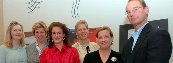 Leslie, Nancy, Jane, Deb, Elaine and David at Portland Museum of Art Reception on March 15, 2008