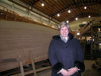 Nancy at Brooklin Boat Yard